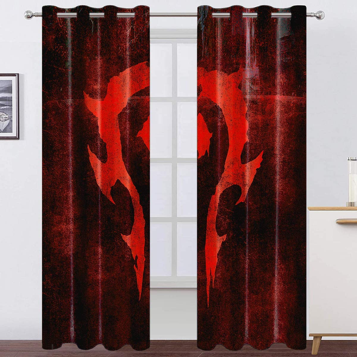 10. World of Warcraft Blackout Curtains with Game Pattern