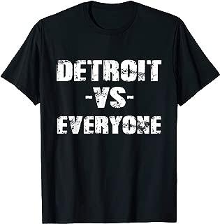 Detroit vs Everyone Vintage Distressed 2018 T-Shirt