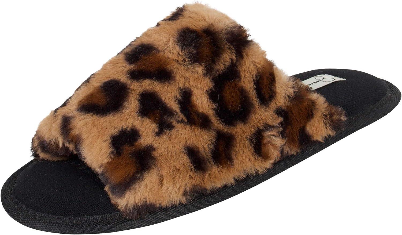Jessica Simpson Ranking TOP17 Women's Plush Faux Fur S 35% OFF Fuzzy on Slide Open Toe