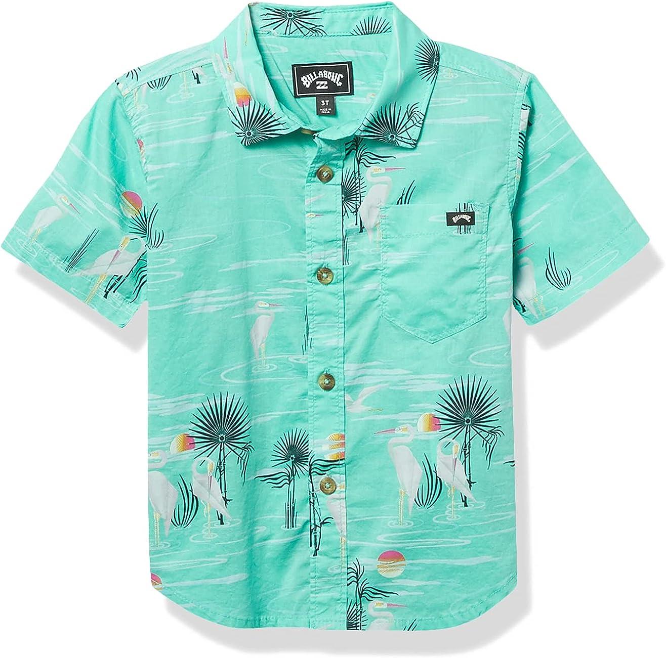Billabong Boys' Sundays Floral Short Sleeve Woven Shirt