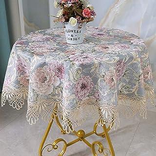 Tablecloth الدانتيل المنزلية مستديرة الجدول القماش، فاخرة منخفضة الرئيسية، مجموعة متنوعة من الأحجام، مناسبة لطاولات الطعا...
