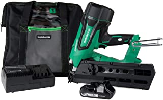 "Metabo HPT Cordless Framing Nailer Kit, 18V, Brushless Motor, 2"" Up To 3-1/2"" Framing Nails, Compact 3.0 Ah Lithium Ion Battery, Lifetime Tool Warranty (NR1890DR)"
