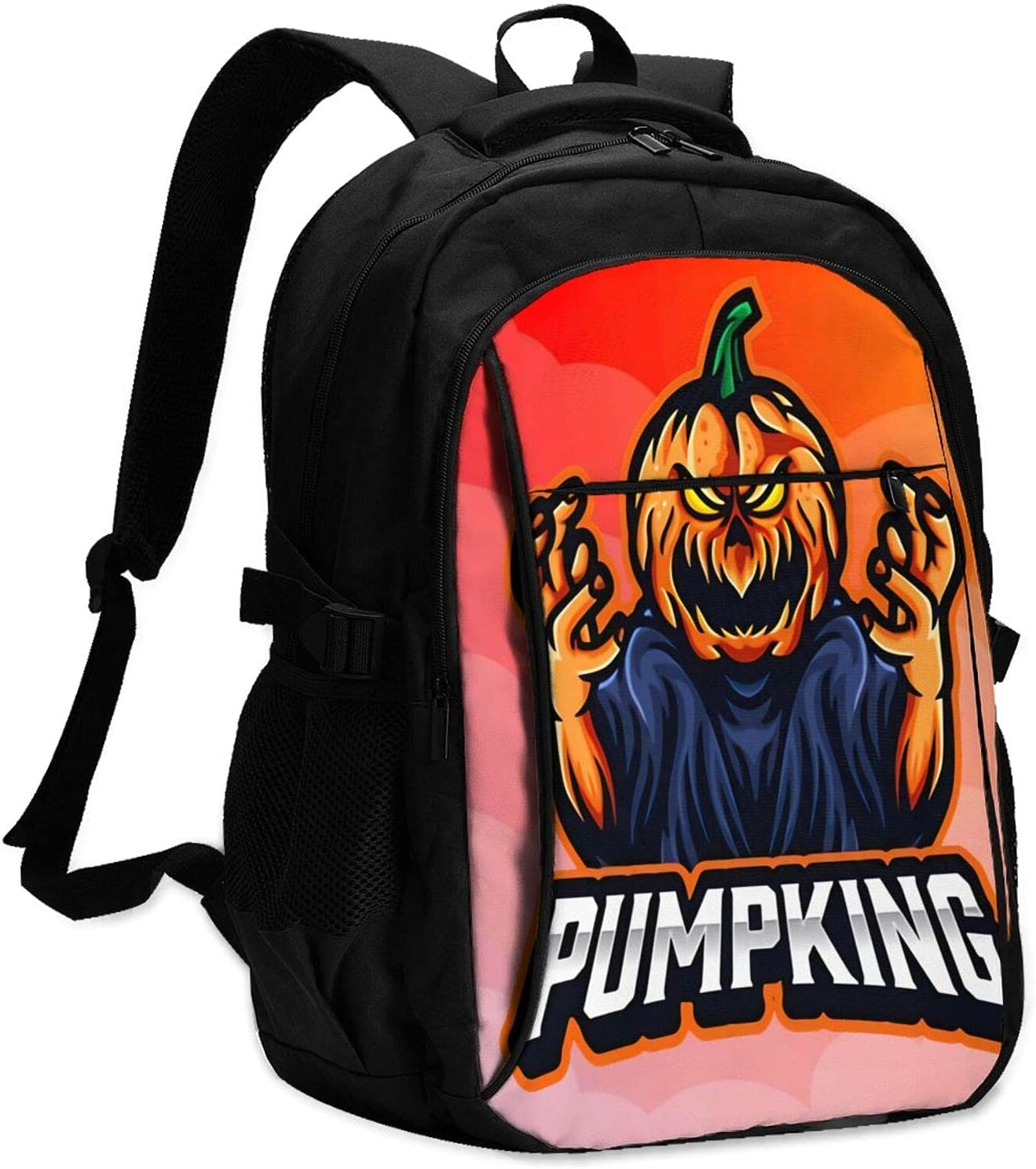 Halloween Pumpkin Fashionable 2021 Max 88% OFF spring and summer new Computer Usb Laptop School Backpac