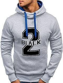 CUCUHAM Fashion Men's Long Sleeve Printed Hooded Casual Top Blouse Sweatshirt