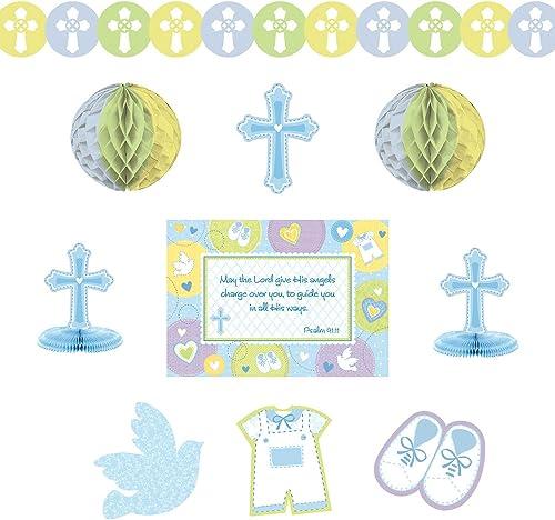 precios al por mayor Sweet Christening azul Decorating Kit by Amscan Amscan Amscan  punto de venta