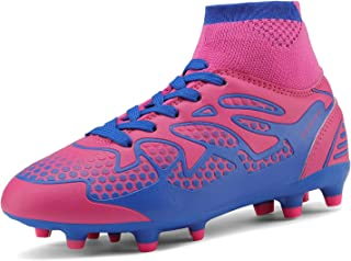Boys Girls Athletic Soccer Football Cleats Shoes(Toddler/Little Kid/Big Kid)