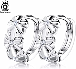 Lovely Silver Earring 3 Flowers Designs with Austrian CZ Crystal Latest Model Fashion Earrings