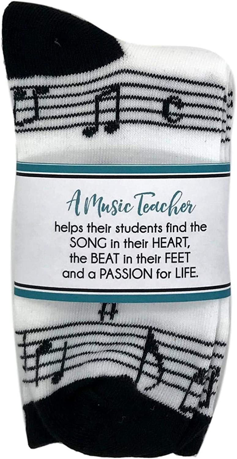 Music Staff Socks Teacher Super popular specialty A surprise price is realized store Teache Gift