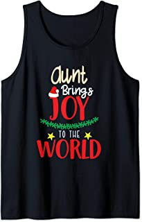 Aunt brings joy to the world Xmas Family matching gift Tank Top