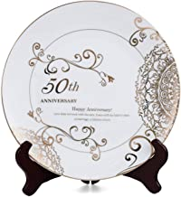 Personalized   Wedding Birthday Anniversaries Custom PhotoText Decorative Plate with Gold Rims  10.5 diameter with stand.