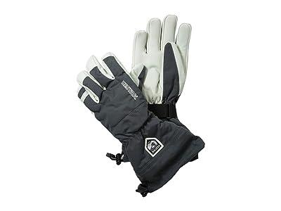 Hestra Army Leather Heli Ski (Grey) Ski Gloves