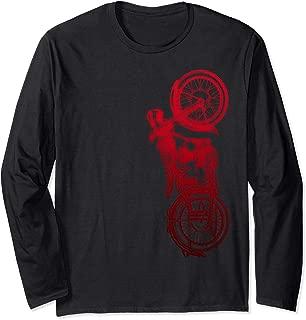 Vintage Retro Motorcycle Long Sleeve T Shirt