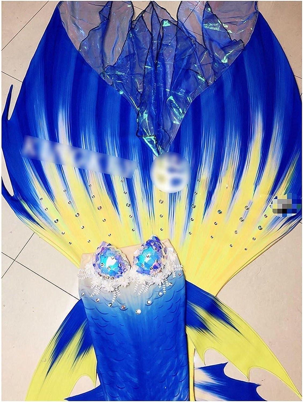 Kinlop Customized Mermaid Tail Swimsuit 3 Piece Swimsuit Mermaid