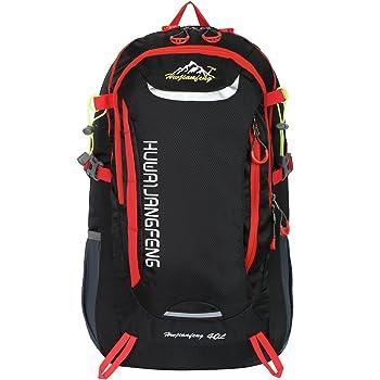 HWJIANFENG 30L Mochilas de Senderismo para Montaña de Acampadas de Ordenador al Aire Libre de Nylon de Diaria Mochilas de Excursion para Viajes Unisex de Ciclismo color Negro: Amazon.es: Deportes y aire