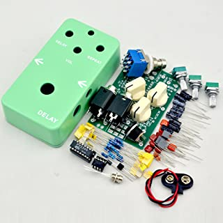 TTONE DIY electric Guitar Delay Effect Pedal kit true bypass+stom box 1590B Green enclosure Guitarra Effect Pedal TTONE