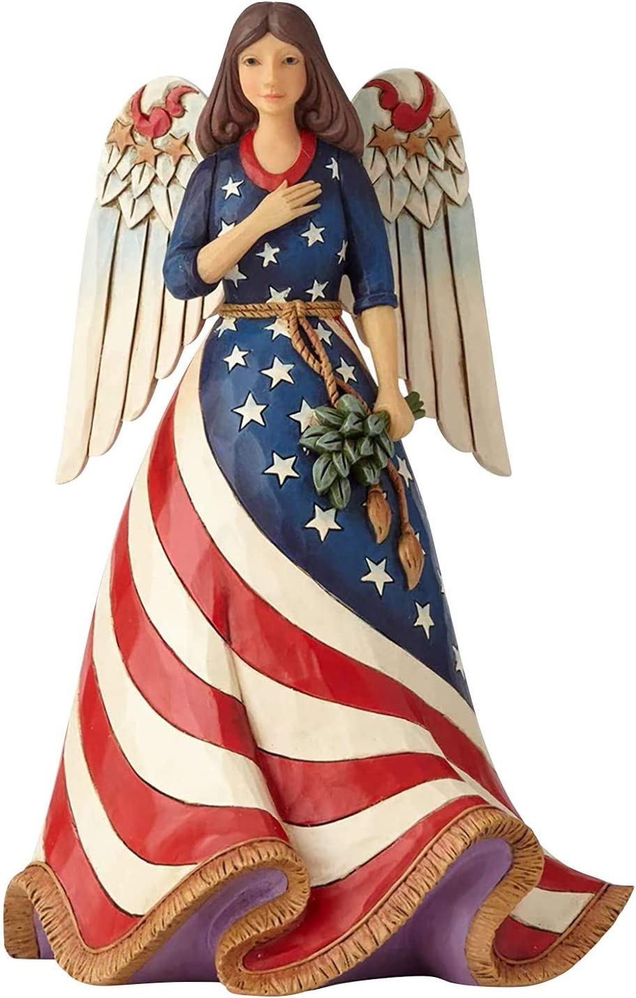 Winnerlink Patriotic Denver Mall Angel discount Figurine - Day Independence An Female