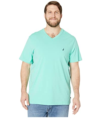 Nautica Big & Tall Big Tall Short Sleeve V-Neck Tee (Green) Men