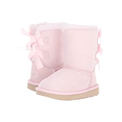 UGG Kids Bailey Bow II (Toddler/Little Kid) (Seashell Pink) Girls Shoes