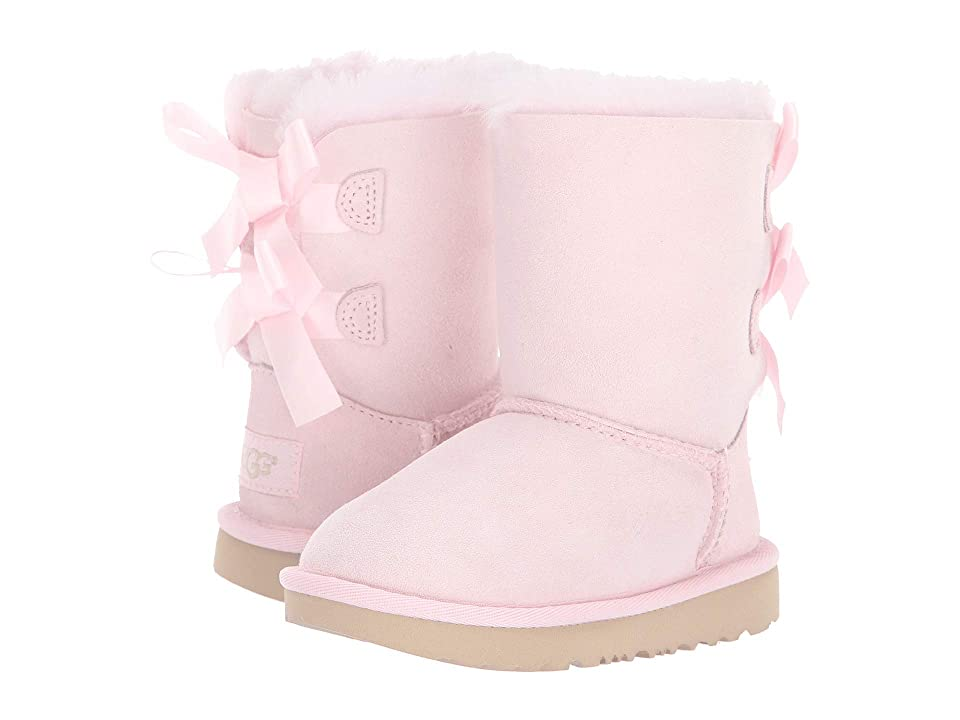 UGG Kids Bailey Bow II (Toddler/Little Kid) (Seashell Pink) Girls Shoes