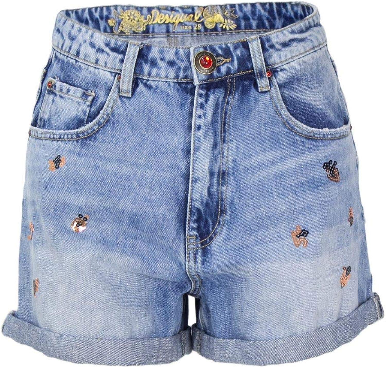 Desigual Women's 18WWDD16blueE bluee Cotton Shorts