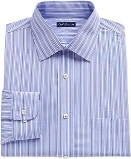 Croft & Barrow Mens Classic Fit 100% Cotton Dress Shirt Blue Stripes