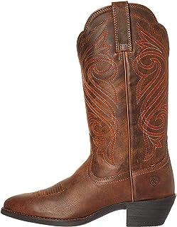 حذاء رعاة البقر الغربي ذو الرقبة الدائرية للنساء من Ariat
