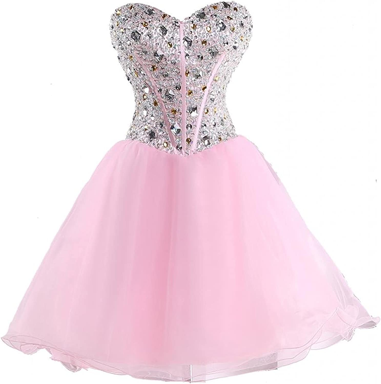 YanLian Women's Homecoming Dresses Prom Gowns Organza Short Evening Dresses YL133