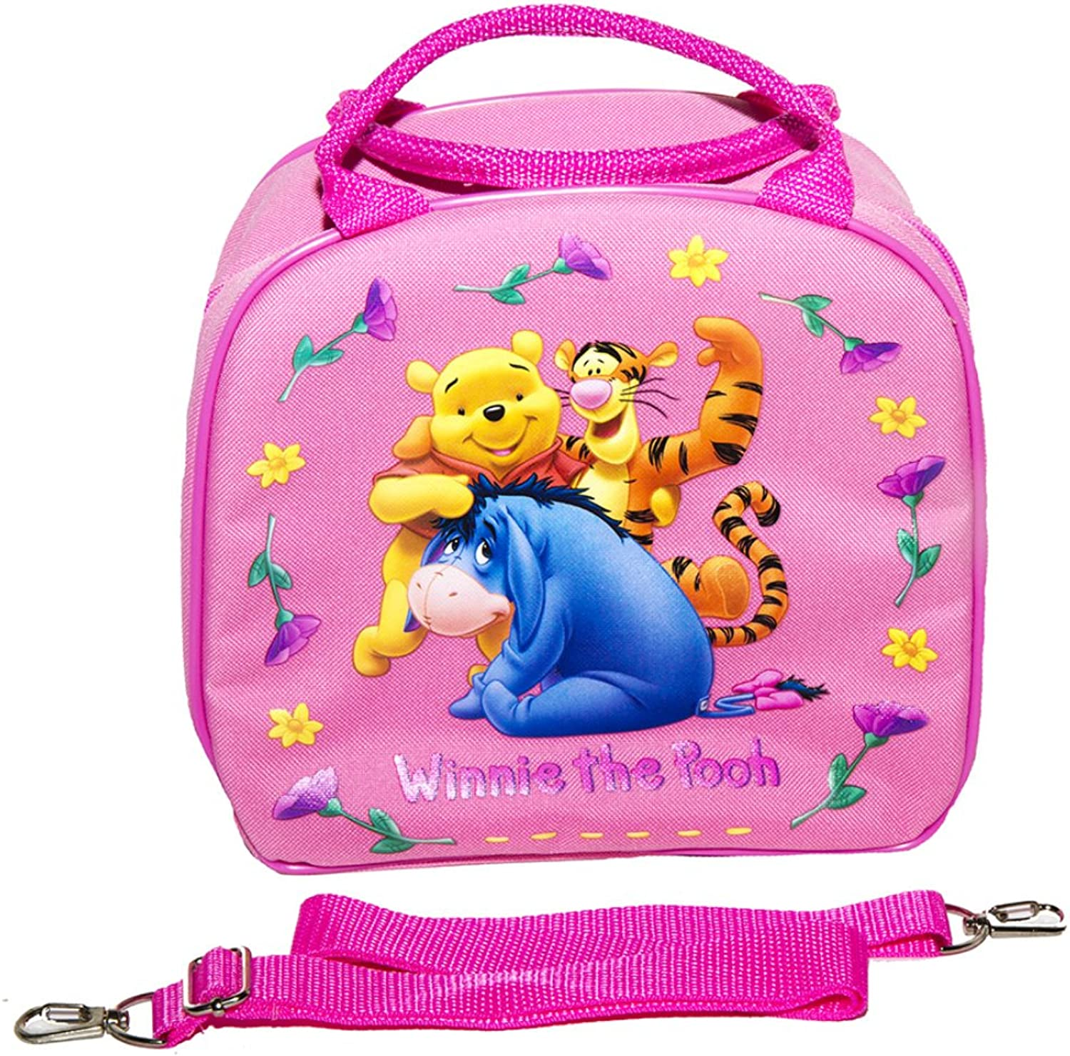 Disney Winnie the Pooh Lunch Box with Water Bottle Pink
