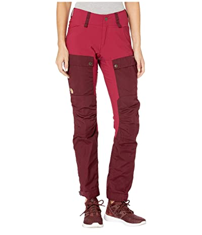 Fjallraven Keb Trousers (Dark Garnet/Plum) Women