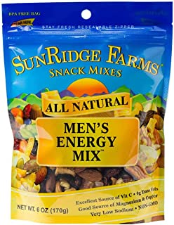 SunRidge Farms Men's Energy Mix NonGMO Verified 6 Ounce Bag (Pack of 12)