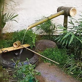 Bamboo Water Feature Fountain ,Outdoor Japanese Garden Feature Modern Decoration 100% Handmade for Outdoor, Garden Decoration