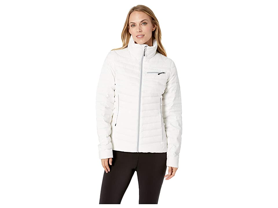 Spyder Timeless Down Full Zip Jacket (White/Alloy) Women