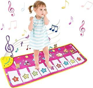 BelleStyle Alfombra Musical - Musical Canto Teclado Estera de Alfombra Bebé Niño Actividad Juego De Gimnasio Colchonetas Alfombra Animal para El Regalo del Bebé (Púrpura)
