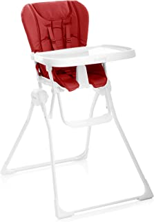 Joovy Nook High Chair, Compact Fold, Swing Open Tray, Red