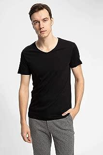 DeFacto V Yaka Slim Fit Basic T-shirt
