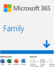 Microsoft 365 Family | Email delivery in 1 hour| 12-Month Subscription, 6 people | Premium Office apps | 1TB OneDrive cloud storage | Windows/Mac