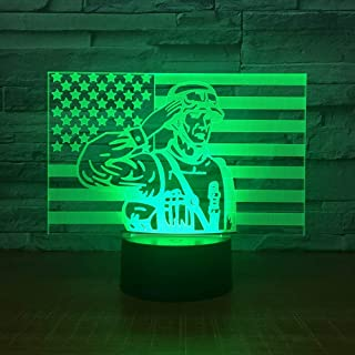 4 Pack,3D Lamp 7 Color Led Night Lamps For Kids Touch Led Usb Table Lampara Lampe Baby Sleeping Nightlight Room Lamp,Patriotic Army Men