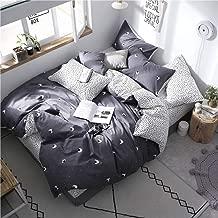 Duvet cover Four Piece Bed Cartoon Eye Pattern Bedding Sets Luxury Bed Linen Pole 3/4Pcs Cotton Soft Bedding Set (Color : King, Size : 220 * 240cm)