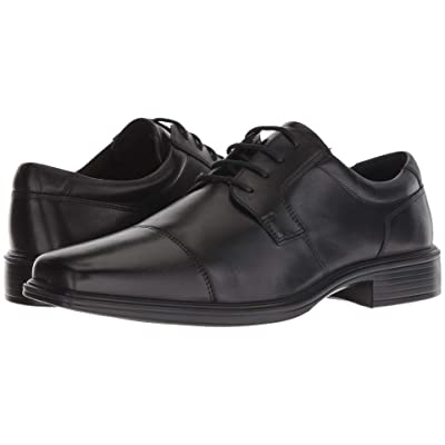 ECCO Minneapolis Cap Toe Tie (Black Leather) Men
