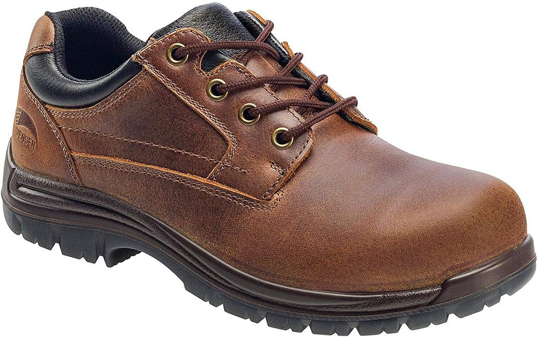 Mens Avenger Composite Toe Work Oxford Brown - Footwear  Men's Footwear  Men's