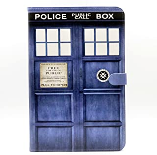 YHB Galaxy Tab A 10.1 Case, Unique! Doctor Who Tardis Police Pattern Leather Flip Stand Case Cover for Samsung Galaxy Tab A 10.1-Inch SM-T580/T585/T587, (NO for S Pen Version)