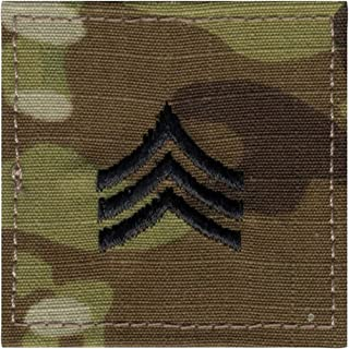 Authentic ACU MultiCam OCP Army Military Air Force Uniform Rank Insignia Hook Tab Patch - Genuine GI US Made