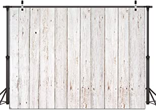 Dudaacvt 7x5FT Vintage Wood Backdrop Retro Rustic White and Gray Wooden Floor Background for Photography Kids Adult Photo Booth Video Shoot Vinyl Studio Props 151