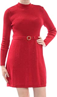 Free People Womens French Girl Ribbed Trim Mini Sweaterdress