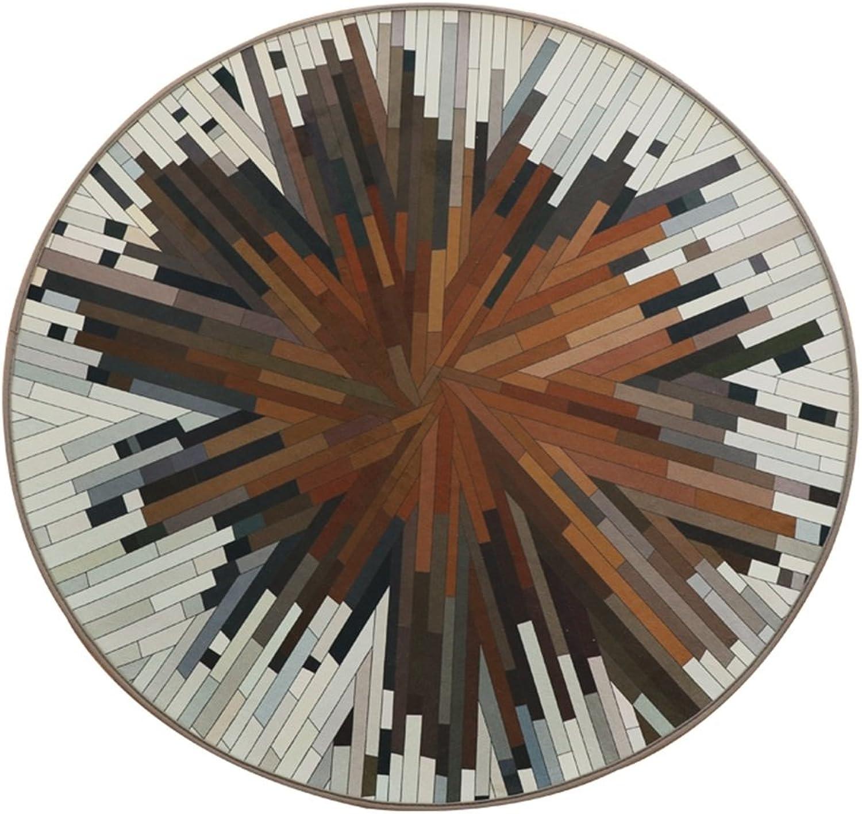 Salon avec tapis rond couverture de table de café tissu de cristal pas de peluches pas de boule (Taille   90  90cm)