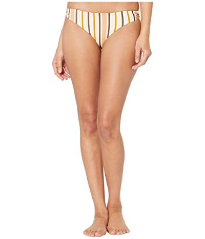 Roxy Print Softly Love Reversible 70s Lace-Up Bottoms (Cream/Tan Macy Stripe) Women