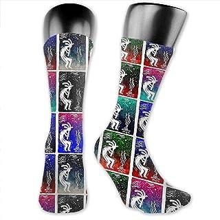 Ejdkdo Men Women Leopard Staring Long Socks Novelty Stockings Casual Tube Socks Good For Gift Unisex3 Vêtements Running