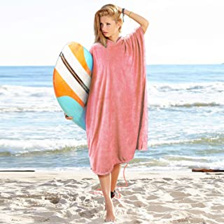 Catalonia Beach Surf Poncho,Super Water Absorbent Wetsuit Changing Towel Robe with Hood for Surfing Swimming Bathing for Adults Men Women,Sand-Proof,Oversized