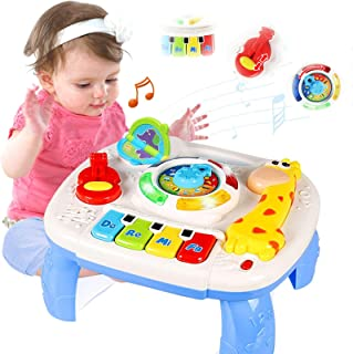 LAGSEAN Baby Toys 6 to 12 Months Musical Learning Table - Baby Toys 12-18 Months Early Education Activity Center Kids Todd...