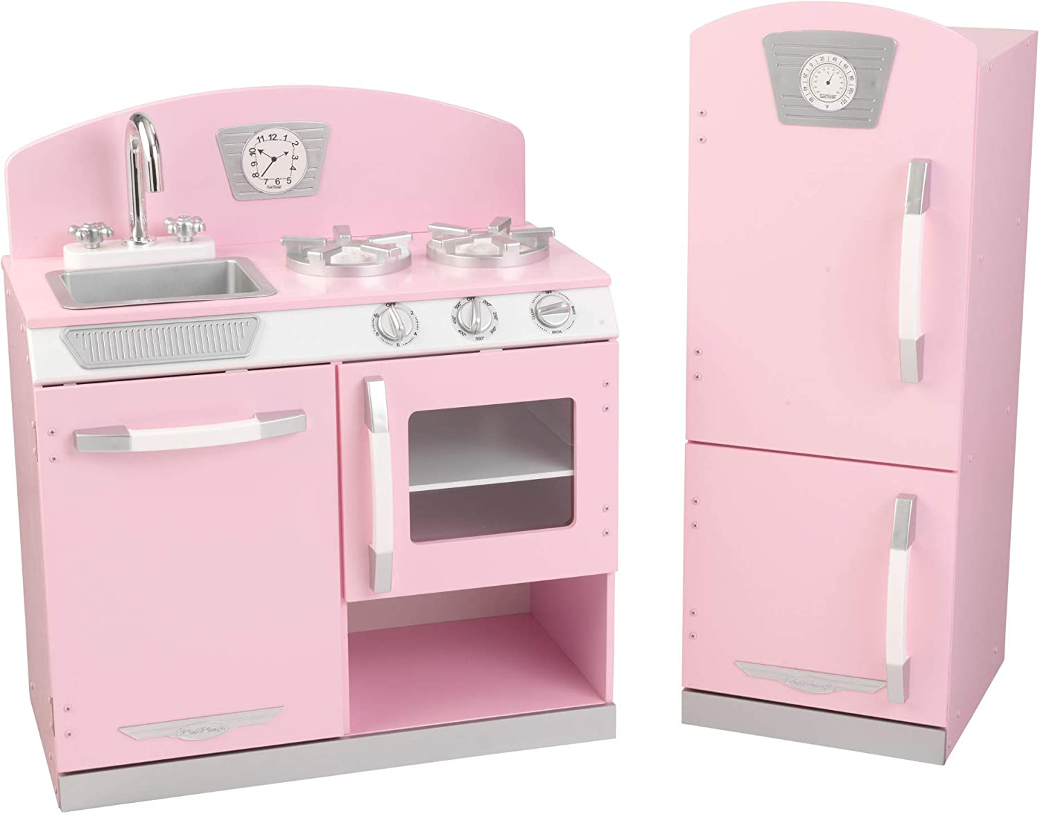 KidKraft Retro Wooden Play Kitchen and Refrigerator Set 2-Piece Topics on TV Cheap mail order specialty store